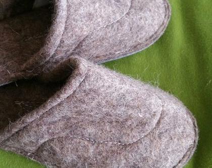 נעלי בית חמות מלבד צמר כבשים טהור