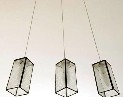 תאורה שלישייה לפינת אוכל בעיצוב מקורי וזכוכוית לפי טעמכם 2 1