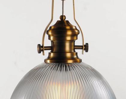 מנורת פסים חובק אוניה, תאורה ,זכוכית ,ברונזה. am807