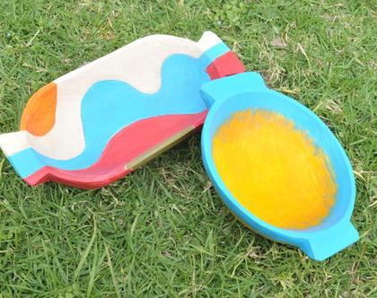 קערת פירות | קערה צבעונית | רעיון למתנה | מתנה לבית | מתנה לחג | חנוכת בית | עיצוב לבית | פריטי עיצוב | עיצוב למטבח | עיצוב למסעדה |