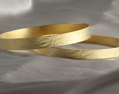 2 צמידי זהב 21k | צמיד רקוע עדין | צמיד מעוצב | צמיד זהב | צמיד זהב מרוקאי | 21 קראט | צמיד עדין | צמיד זהב לחינה |צמיד דגם גל ים