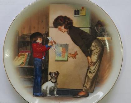 צלחת יום האם- 1985 - יצירה של אהבה - גרסה 1