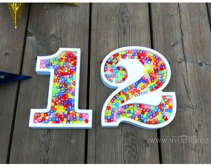 מספרים קערות לממתקים   כלי לסוכריות   עיצוב יום הולדת