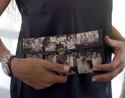 מתנות לאישה   קלאץ' שחור לבן   תיקי נשים   מתנה מיוחדת   מתנות לאישה   ליום הולדת   מקורית   מתנות מיוחדות