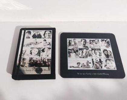 מחברת ופד לעכבר   קולאז' תמונות   פסיפס תמונות   מתנות בעיצוב אישי   מתנה למשרד חדש   לעבודה חדשה   ליום הולדת   בהתאמה אישית   מתנה מקורית