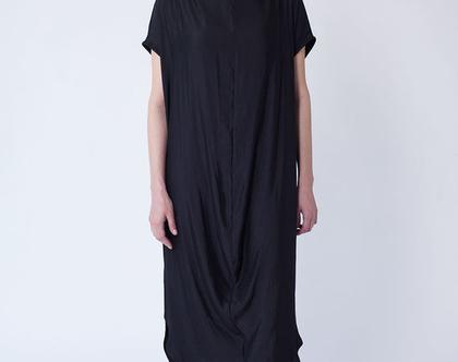 שמלת רבידה קיצית, שמלה חומה, שמלה מבריקה, שמלת קיץ בצבע חום