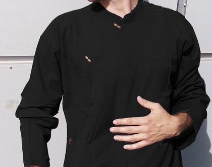 חולצת גברים - טיבטית - שחור