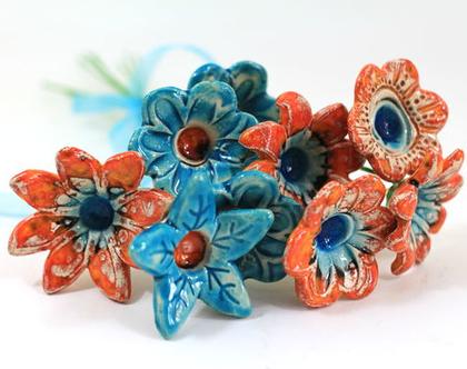 פרחים מקרמיקה | עיצוב לבית | מתנה לחג | פרחים מעוצבים | פרחים לחג