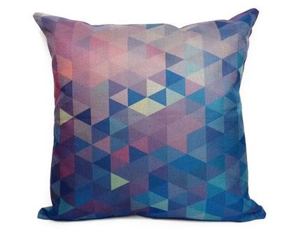 כרית נוי Geometric גאומטרי - כחול