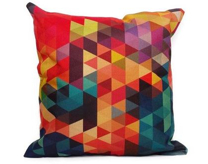 כרית נוי Geometric גאומטרי - צבעוני