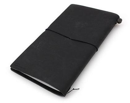 מחברת מסע | Traveler's Notebook | עור שחור
