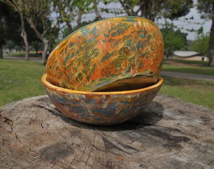 קערת פירות | קערת עץ | קערה כפרית | עיצוב כפרי | רעיון לעיצוב | מתנה למטבח | מתנה לחג | רעיון למתנה | קערה צבעונית | מתנה צבעונית |
