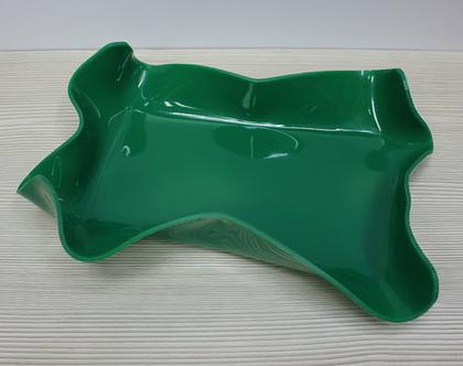 קערת וינטאג׳ ירוקה, קערת הגשה מעוצבת