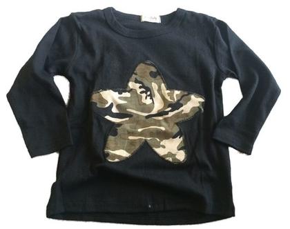 חולצת כוכב שחורה
