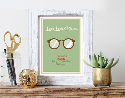 Lets Look Closer | תמונה למשרד | תמונה לבית | קובץ דיגיטלי להדפסה עצמית