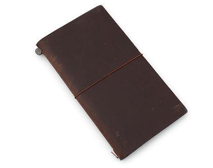 מחברת מסע | Traveler's Notebook | עור חום
