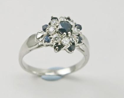 טבעת כסף זרקון | טבעת כסף לאשה | כסף טהור 925 | אבני ספיר | טבעת כסף | משובצת | זירקונים | מבצע | תכשיטים לאשה |