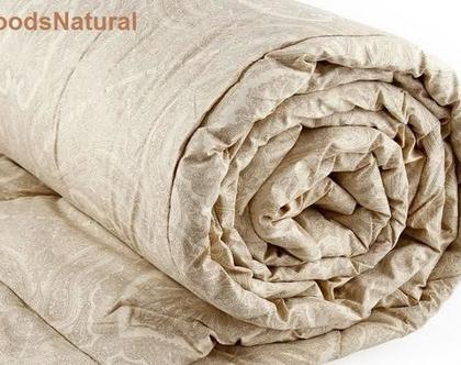 שמיכת חורף/ שמיכת צמר/wool duvet/ camel wool comforter/ שמיכה חורפית מצמר גמלים טהור/ одеяло из верблюжьей шерсти - זוגית