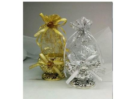 100 מתנות לאורחים בטקס החינה | אריזות דרז'ה למילוי בסוכריות לחינה | כלים מעוצבים לחינה