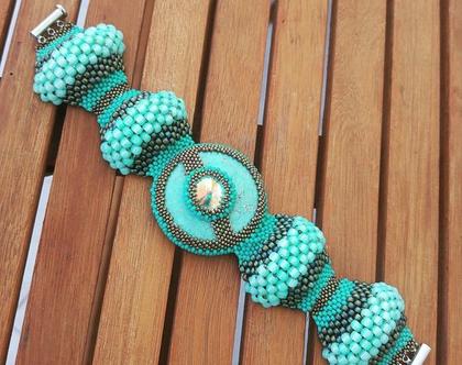 צמיד מיוחד, צמיד עבודת יד, תכשיט מעוצב, צמיד חרוזים, צמיד טורקיז