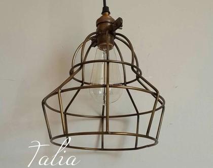 מנורת תלייה כלוב דגם Factory