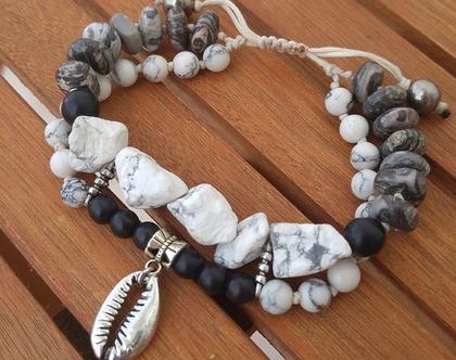 צמיד חרוזים מיוחד , צמיד אבנים אמיתיות,צמיד חוטים