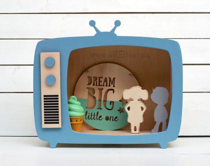 מדף מעוצב | מדף לחדרי ילדים | מדף טלוויזיה | מדף עץ