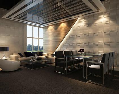 אריחי תלת מימד לעיצוב קירות, -דגם glow 3