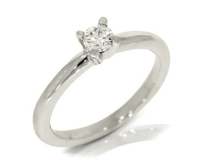 טבעת אירוסין, טבעת יהלום, טבעת זהב לבן יוקרתית משובצת יהלום