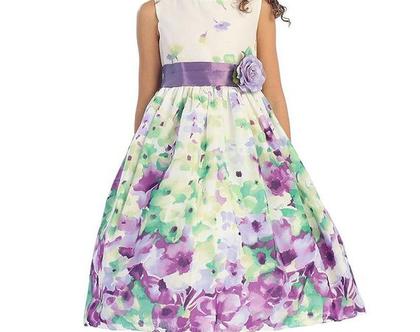US שמלת פרחים סגולים