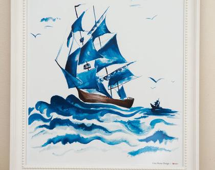 איור ספינה בריטית