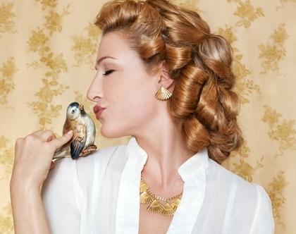 עגילי מניפה- עגיל לאשה בציפוי זהב במבצע - עגילים