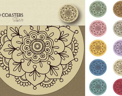 Trendy Mint | תחתיות לכוסות לעיצוב שולחן