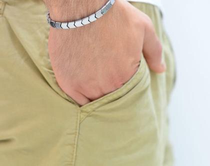 צמיד לגבר - צמיד כסף לגבר - צמידים לגבר - תכשיטים לגבר - מתנה לגבר - מתנה לחבר