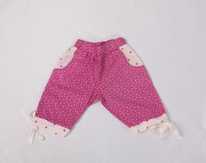 מכנס כוכבים קצר לילדה, מכנסיים קצרים עם גומי וסרט קשירה *משלוח חינם*