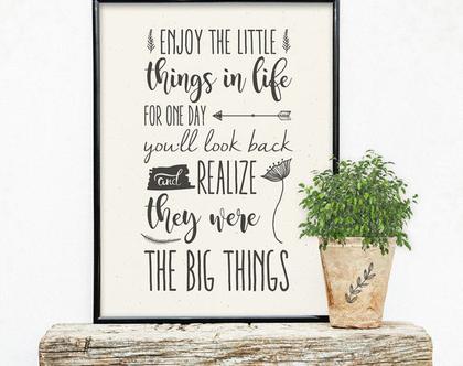 פוסטר - Enjoy the little things