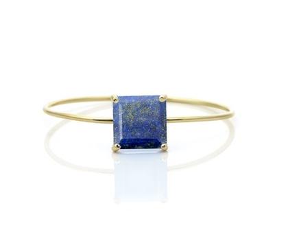 צמיד לאפיס מגולדפילד - צמיד אבן חן - צמיד זהב - צמיד בשיבוץ אבן חן