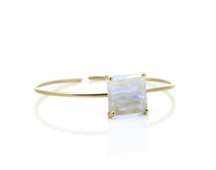צמיד מון סטון מגולדפילד - צמיד זהב - צמיד אבן חן - צמיד לאירוע - צמיד עדין לחתונה