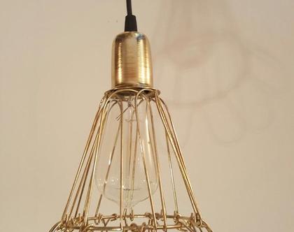 מנורת תלייה   מנורת תלייה בגוון   Liron gold