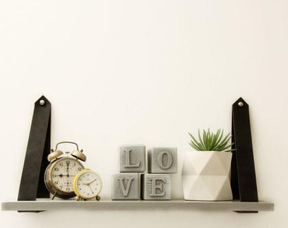 קוביות בטון LOVE | אותיות בטון מעוצבות | דקורציה לחדר שינה | קוביות עם אותיות | עיצוב הבית | מתנה לולנטיינ׳ז
