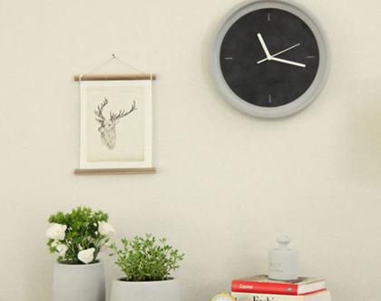 שעון קיר בטון ועור I עיצוב הבית I אקססוריז לבית I שעון קיר לחדר שינהI שעון קיר למטבח I שעון קיר לפינת האוכל