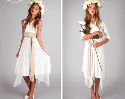 שמלת מעטפת שפיצים לנערות ובת מצווה של המעצבת שירן סבוראי
