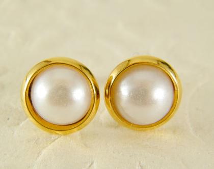עגילי פנינים | עגילי גולדפילד צמודים | עגילי פניני מיורקה | עגילים לכלה | עגילים קלאסים | תכשיטים לחתונה