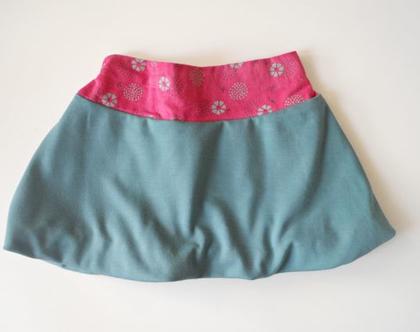 חצאית בלון ירוקה לילדה חצאית גומי לחורף *משלוח חינם*