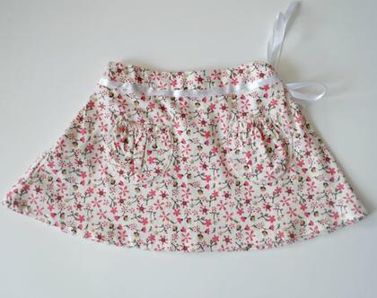 חצאית פרחונית לילדה חצאית חורף עם סרט קשירה לילדה *משלוח חינם*