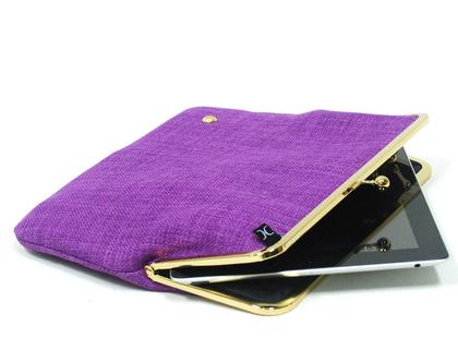 תיק אייפד ''9 - סגול זהב - Duchess Case collection