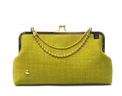 תיק קלאץ' - תיק ערב - ירוק זהב / כסף