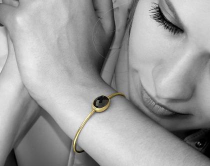 צמיד אוניקס מגולדפילד - צמיד ליום יום - צמיד עדין - צמיד זהב - צמיד בהתאמה אישית