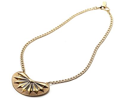 שרשרת אלה - זהב מאט ושחור- מבצע מיוחד - שרשרת לאשה - תליון גדול - שרשרת זהב ושחור - שרשרת מעוצבת - שרשרת לאירוע