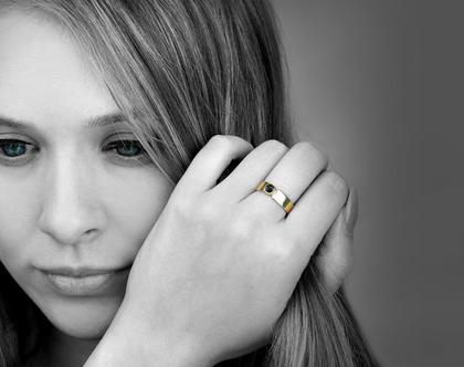 טבעת אוניקס שחור - טבעת מיוחדת - טבעת יוקרתית - טבעת ייחודית
